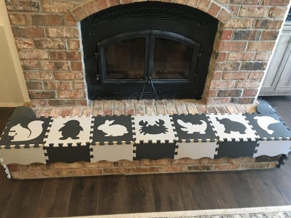 Baby Proofing Fireplace and Hearth Padding