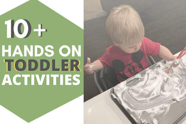 Easy Toddler Activities to Keep Your Toddler Busy WITHOUT a Screen! Quick and Cheap to Put Together! #diytoddleractivities #easytoddleractivities #simpletoddleractivities