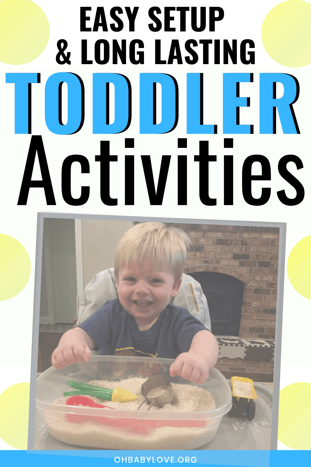 Toddler Activities 2 Year Old: Little Prep Time Using Household Items #toddleractivities #toddleractivitiesindoor
